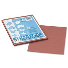 Tru-Ray Construction Paper, 100% Sulphite, 9 x 12, Warm Brown, 50 Sheets (Set of 3)