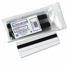 Magnetic Label Holder, Side Load, 6 X 1-1/2, 10/Pack