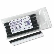 Magnetic Label Holder, Side Load, 6 X 1/2, 10/Pack
