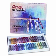 Oil Pastel Set with Carrying Case, 36/Set
