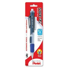 Automatic Pencil,Retractable Eraser,Rubber Grip,.7mm, Blue