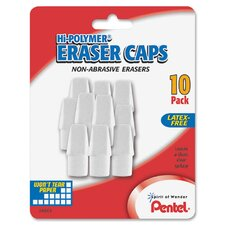 Hi-Polymer White Eraser Caps (Set of 10)