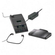 "Mini Cassette Transcription System, 5-1/3""x9-1/10""x2"", Black"