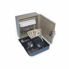 """Personal 2-in-1 Key Cabinet/Drawer Safe, Steel, 6-3/4"""" Wide, Beige"""