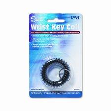 Plastic Coil Key Chain, Black (Set of 3)