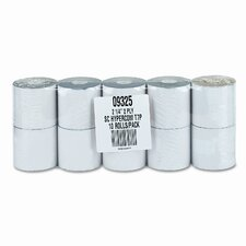 "2-Ply Printer Roll for Verifone 420/460, 2-1/4""w, 70'l, White/Canary, 10/ctn"