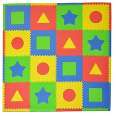 16 Piece Tadpoles First Shapes Playmat Set