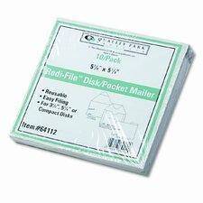 Redi-File Disk Pocket Mailer, 10/Pack