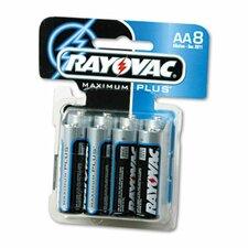 AA Alkaline Battery, 8/Pack