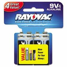 Alkaline Battery, 4/Pack