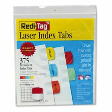 Laser Printable Index Tab, 375/Pack
