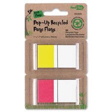 Recycled Page Flags In Pop-Up Dispenser (50 Pack) (Set of 2)