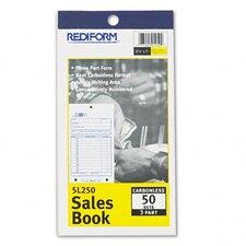 Sales Book, 3-5/8 X 6 3/8, Carbonless Triplicate, 50 Sets/Book (Set of 2)