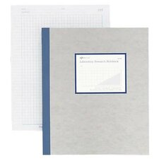 Lab Notebook w/ Carbon, 4x4 Quad, 200 Sheets, Letter, Gray