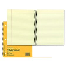 """Notebook, 1 Subject, 80 Sheets, College/Margin, 11""""x8-7/8"""", Brown"""