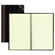 "Book W/Margin, Record-Ruled, 500 Pages, 14-1/4""x8-3/4"", BK"
