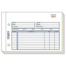 """Invoice Form, 3 Part, Carbonless, 5-1/2""""x7-7/8"""", 50/BK"""