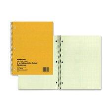 """Wirebound Notebook, 5""""x5"""" Quad, 11""""x8-1/2"""", 80 Pages, Green"""
