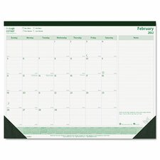 Brownline Ecologix Monthly Desk Pad Calendar