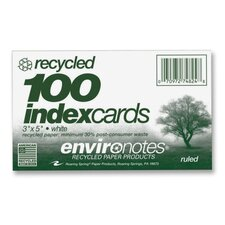 """Index Cards, Ruled, 3""""x5"""", 100 per Pack, White"""