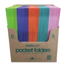 "Two Pocket Folders, 11-3/4""x9-1/2"", 100 per Carton, Dual Color"