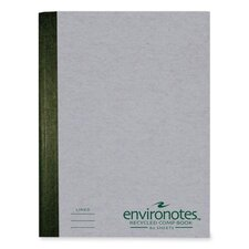 "Composition Book, College Ruled, 80/Sheets, 9-3/4""x7-1/2"", Gray"