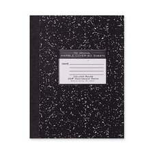 "Composition Book, 20lb., College Ruled, 10-1/4""x7-3/4"", 80 Sheets, Black"