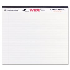 Landscape Format Writing Pad, College Ruled, 40 Sheets/Pad (Set of 3)