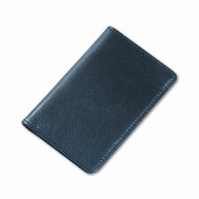 Regal Leather Business Card Wallet Holds 25 2 x 3-1/2 Cards, Black
