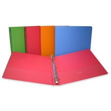 "Round Ring Binder,1"" Capacity,11""x8-1/2"",Fashion Assorted"