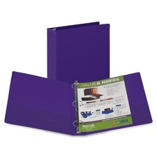 3-Ring Vinyl Storage Binder with Pocket