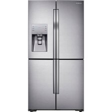 13.6 cu. ft. Bottom Freezer Refrigerator in Stainless Steel with 4-Door Flexzone™