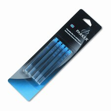 Parker Refill Cartridge For Washable Ink Fountain Pens, 5/Pack (Set of 2)