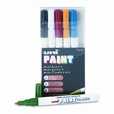 Uni-Paint Markers, 6/Set
