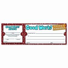 Good Work Ticket Award (Set of 2)