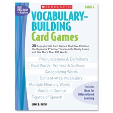 Vocabulary Building Card Games, Grade Six Book