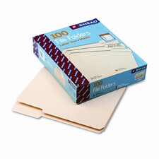 1/3 Cut Third Position One-Ply Top Tab File Folders, Letter, 100/Box