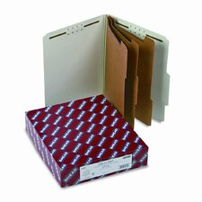 """Folders, Letter, 3 Partition, 3"""" Expansion, Letter, Red/Gray"""