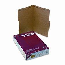 Two Fasteners 2/5 Cut Top Tab 11 Point Kraft Folders, Legal, 50/Box