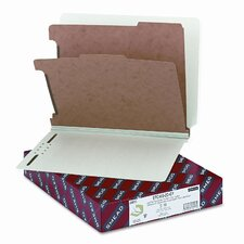6-Section Pressboard Classification End Tab Folder, 10/Box