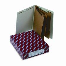8-Section Pressboard Classification End Tab Folder, 10/Box