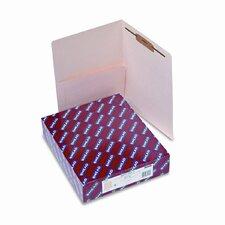Fastener Straight Cut Reinforced End Tab Pocket Folder, 50/Box
