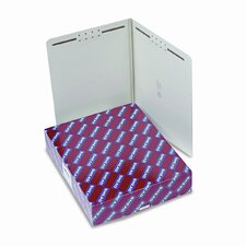 Two Fasteners End Tab One Inch Expansion Folder, 25/Box