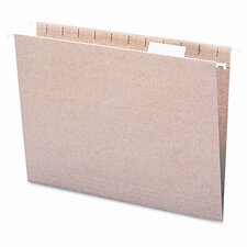 11 Point Stock Recycled Hanging File Folders, 1/5 Tab, 25/Box