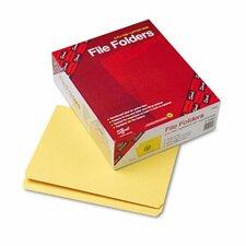 Straight Cut Reinforced Top Tab File Folders, 100/Box
