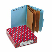 "3"" Expansion Classification Folder w/2/5 Tab, Ltr, 8-Section, Blue, 10/bx"