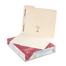One Fastener 1/3 Cut Assorted Top Tab Folders, Letter, 50/Box