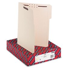 Two Fasteners 1/3 Cut Third Position Top Tab Folder, 50/Box