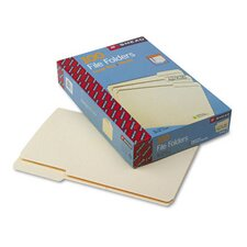 1/3 Cut Third Position One-Ply Top Tab File Folders, 100/Box