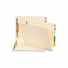 Hvywt Folders, 2 Fasteners, W-fold Expansion, Straight End Tab, Ltr, MLA, 50/Box